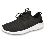 DRUNKEN Men's Sports Shoes Mesh Black Running Shoes Football Shoes Cricket Shoes Basketball Shoes Badminton Shoes Walking Shoes Tennis Shoes