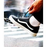 《予約》VANS 417限定 VANS BUCK OLD SKOOL ASPHALT / バンズ オールドスクール【エディフィス/EDIFICE メンズ スニーカー ブラック A ルミネ LUMINE】