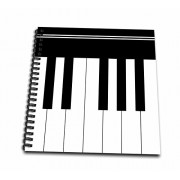 3d Rose Db 112827 2 Piano Keys Black And White Keyboard Musical Design Pianist Music Player And Musician Gifts Memory Book, 12 By 12 Inch