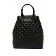 LOVE Moschino Quilted PU Backpack BLACK
