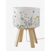 VERTBAUDET Candeeiro de mesa de cabeceira com pé, Botânico branco claro liso 2