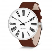 Arne Jacobsen Clocks Armbandsur Roman Vit/brun 46 mm Arne Jacobsen Clocks
