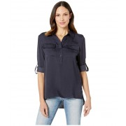 Kenneth Cole New York Popover Button Front Tunic Indigo