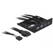 DeLock 3,5″ Front Panel > 2x USB 3.0 + 2x USB 2.0 63993