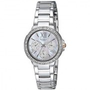 Casio Sheen Analog Silver Dial Womens Watch-She-3052D-7Audr (Sx186)