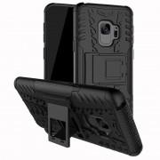 Samsung Galaxy S9 Black Heavy Duty Rugged Kickstand Armour Case