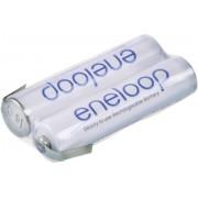 Pachet acumulatori NiMH cu urechi de lipire Z, 2 x AAA, 2,4 V, 750 mAh, Panasonic eneloop F1x2