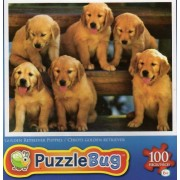 Golden Retriever Puppies 100 Pc Jigsaw Puzzle New
