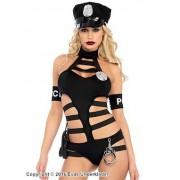 Avslöjande poliskostym, maskeradkläder