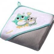 Бебешка велурена хавлия с качулка с подарък гъба за баня, 138/05 Babyono, 5901435406892