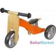 Azet Tricikli fa futóbiciklivé alakítható narancssárga