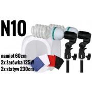 N10 Zestaw bezcieniowy - 2x600W + namiot 60cm