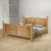 vidaXL Pat cu saltea, lemn de pin mexican, gama Corona, 140 x 200 cm