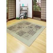 【23%OFF】い草ラグ 凪とんぼ ブラウン 176x176 インテリア・家具 > 敷物~~ラグ