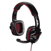 HEADPHONES, HAMA Fire Starter, Gaming, Microphone, Black/Red (53987)