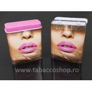 Pachet metalic Pink Lips pentru 20 tigari