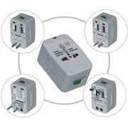 International All-IN-ONE Universal Travel Power Charger Plug Adapter US/EU/UK/AU