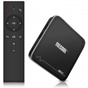 MECOOL M8S PRO+ Android TV OS TV Box con Control (Negro)