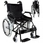sedia a rotelle / carrozzina pieghevole prince - in alluminio - sedut