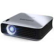 Videoproiector portabil Philips PicoPix PPX4010, 100 lumeni, 854 x 480, Contrast 1.500:1 (Argintiu)