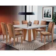 Sala de Jantar Rufato Lecce 135+8 Cadeiras - Imbuia Off White - Animalle Chocolate
