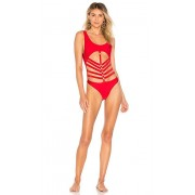 Lovers + Friends Jetty One Piece in Red. - size XS (also in L,M,S)