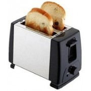 Firstsmily Electric Toaster Maker Electrical Grill Automatic Sandwich Breadmaker 2 Slices Breakfast Maker EU Plug Free Toast(Black)