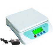 Zeom ™TS500 0-25 KG DIGITAL WEIGHING SCALE KITCHEN SCALE MEASURES 1G - 25000G AC / DC GIFT 25KG ELECTRONIC SCALE With Parts / PCs Counting Weighing Scale Weighing Scale(White)