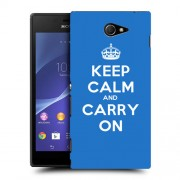 Husa SONY Xperia M2 Silicon Gel Tpu Model Keep Calm Carry On