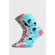 Lovely lányka zokni, 3 pár 1 csomagban színes