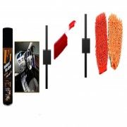 s4d Car Dashboard polish / carpet brush and microfiber hand glove one pc colour assorted01