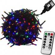 Karácsonyi LED fényfüzér 5 m - színes 50 dióda - távirányító