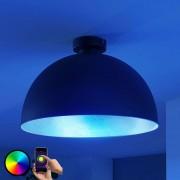 LED ceiling light Bowl WiFi 41cm black/silver