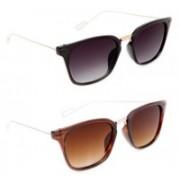 TheWhoop Wayfarer Sunglasses(Black, Brown)