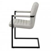 [en.casa]® Дизайнерски стол, комплект от 6 броя, 86,5 x 60cm, Слонова кост