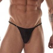 Don Moris Transparent Printed Fabric Rings String Thong Underwear DM031744
