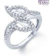 Sukkhi Enchanting Rhodium Plated Cz Ring