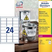 Avery Zweckform etikete L4773-100, 63,5 x 33,9 mm, otporne