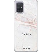 Samsung Galaxy A71 siliconen telefoonhoesje - C'est la vie