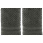 Mette Ditmer Brick Handduk 35x55 2-pack Olivgrön