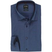 OLYMP Luxor Modern Fit Hemd Extra langer Arm (69cm) marine/bleu/weiss