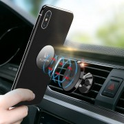 FLOVEME Powerful Magnetic 360 Degree Rotation Car Air Vent Phone Holder Stand for iPhone Xiaomi