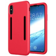 GSMWise - Apple iPhone X - Zachte TPU Back Case met Sport Armband - Rood