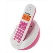 Telefunken TB 201 Peps - Téléphone sans fil avec ID d'appelant - DECTGAP - rose