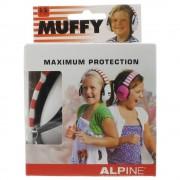 Alpine Muffy Maximun Protection Kapselgehörschutz Kids rot-weiss