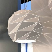 Kosiluz Lámpara colgante poligonal moderna color blanco - Amos