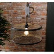 Zaloni Hanglamp Cody 1LxØ40 van 150 cm hoog in grijs