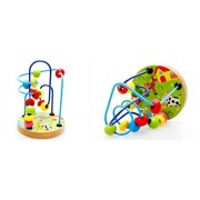 Joyeee® Multicolor Wooden Bead Roller Coaster #1 - Farm Pattern - Compact Size Early Education Beads Maze Toys for Your Kids - Perfect Christmas Gift Ideas