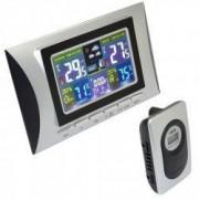Statie meteo LED cu senzor extern afisaj ora calendar higrometru alarma