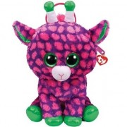 Ty Beanie Paarse Ty Beanie giraffe rugzak/rugtas Gilbert 15 x 24 cm schooltas